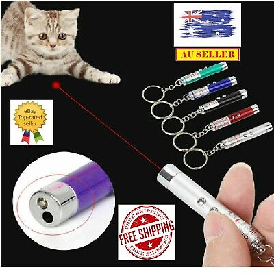 Pet Dog Cat Laser Lazer Light Fun Training Pointer Torch LED Toys AU