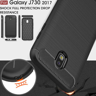 For Samsung Galaxy J7 Pro 2017 J730, Shock-proof Carbon Fiber HQ Soft Cover Case