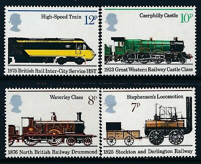 GB 1975 PUBLIC RAILWAYS 150th ANNIVERSARY SET OF 4 FINE MINT MNH SG984-SG987
