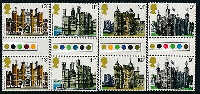 Gb 1978 Historic Buildings Traffic Light Gutter Pairs Set Of 4 Fine Mint Mnh