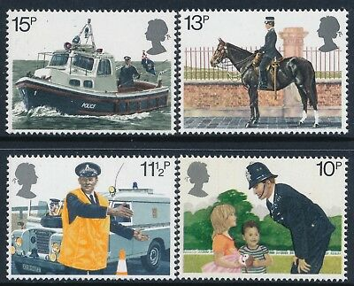 Gb 1979 Metropolitan Police Set Of 4 Fine Mint Mnh Sg1100-Sg1103