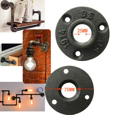 3 Holes Malleable Threaded Black Floor Flange Iron Pipe Fittings Wall Mount