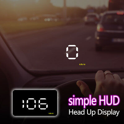 """Uinversal Car GPS HUD Head Up Display 3.5"""" LCD OBD2 Overspeed Warning System US"""