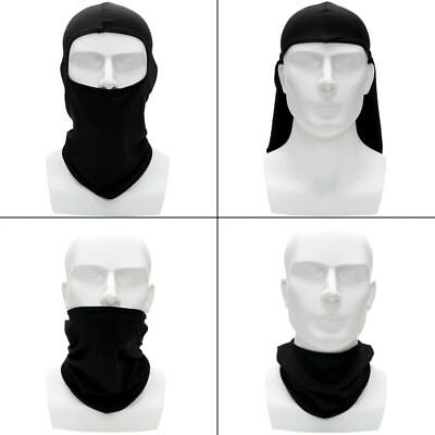 Motorcycle Face Mask Full Face and Neck Thin Soft Breathable Mask Balaclava Hood