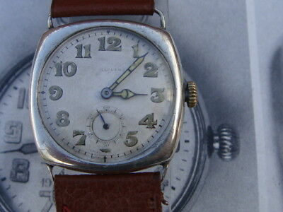 Art Deco Mappin & Webb Swiss vintage watch military dial serviced c1927 pre WW2