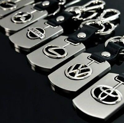 Clearance Stainless Pu Car Logo Keyring Key Ring Chain Cheap Sales Vehicle Gift