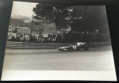 rare Auto Italiana official Photo Ferrari 312B F1 Monaco GP 1971 Jacky Ickx