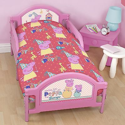Peppa Pig Cot Toddler Doona Duvet Quilt Cover, Peppa Funfair, Express Postage