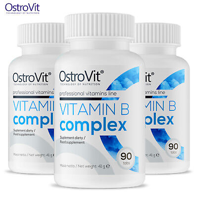 VITAMIN B COMPLEX 90-360 TABLETS Energy Production * Improves Fat Metabolism