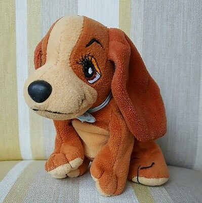 Lady from Lady and the Tramp beanie plush soft toy by Disney 6 inch