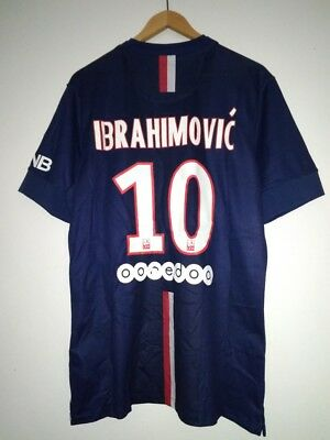 PSG Paris Saint-Germain #10 Ibrahimović Home football shirt 2014 - 2015 size M