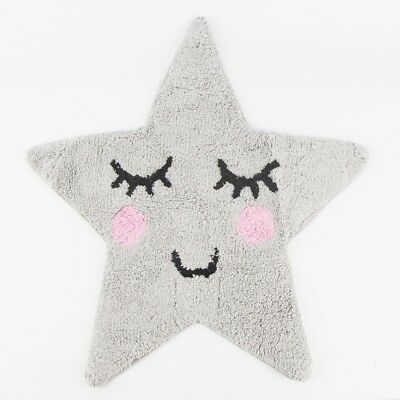 Sass and Belle Sweet Dreams Star Rug - Grey