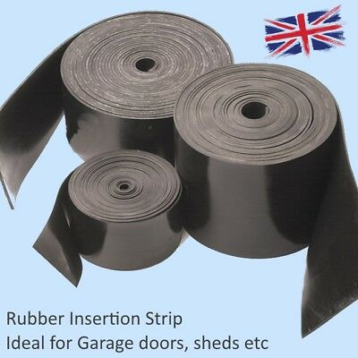 Black SOLID NEOPRENE RUBBER Strips Various sizes available