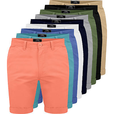 20ae9535 MENS CHINO SHORTS Casual Fine Twill Cotton Cargo Combat Half Pant Summer New