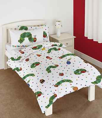 The Very Hungry Caterpillar Toddler Cot  Quilt Doona Duvet, Licensed, Eric Carle