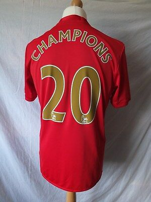 Brand New Manchester United 2016/17 Home Shirt CHAMPIONS 20 Times  Mens XL