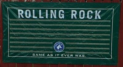 Rolling Rock Beer-Vintage Outdoor Advertising Banner-Early 2000~VHTF