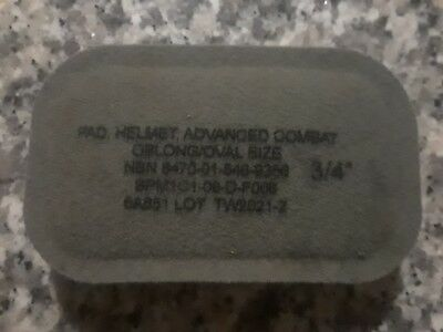 "Helmet Pad, Advanced Combat - Oblong/Oval - 3/4"" ORIGINAL Army Issue"