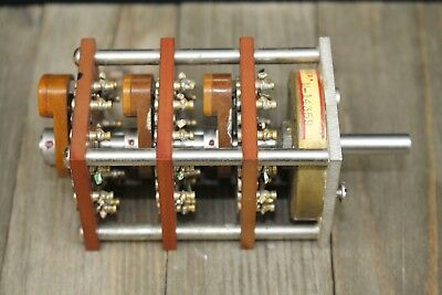 3 Pole 12 Position 3 Deck Rotary Switch Square The Daven Co 317-CB-12