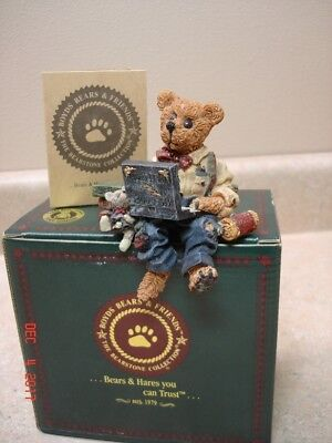Boyds Bears Bearstone Collection - Neville...Compubear (in box)