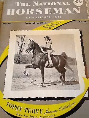 Saddlebred Vintage Treasure:NATIONAL HORSEMAN NOV. 1948 Society Ann Art Simmons!