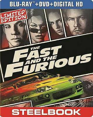 Fast and the Furious, The (Blu-ray+DVD+Digital, 2014; Pop Art SteelBook) NEW