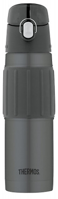 Thermos Vacuum Insulated 18 Ounce Stainless Steel Hydration Bottle, Charcoal,New