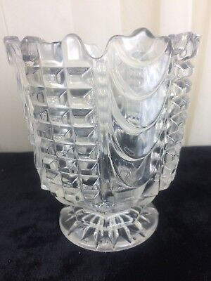 Vintage Glass Vase With A Little Pedestal Base