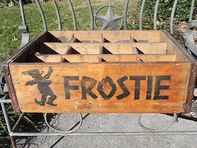 Frostie Bottle Crate Carrier Box Wood Nome Fredrick MD