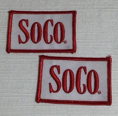 Southern Comfort SoCo Embroidered Patches Red White Unused Pair