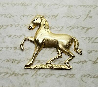 Oxidized Silver Plated Brass Horse And Horseshoe 2 SORAT6479