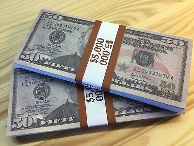 $10.000 High Quality Usa New $50 Dollars Invalid Game Toy Kid Cash Paper Money