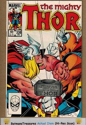 The Mighty Thor #338 (9.2-9.4) NM 2nd Beta Ray Bill Appearance 1983 Key Issue