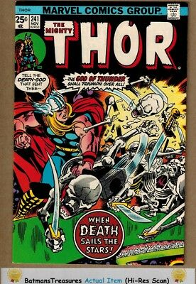 The Mighty Thor #241 (9.0-9.2) NM- By Jack kirby 1975 Bronze Age Key Issue
