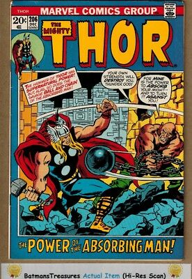 The Mighty Thor #206 (8.0) VF 1972 Bronze Age Key Issue