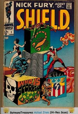 Nick Fury Agent of SHIELD #1 (VG+) 1st Scorpio Appearance 1968 Silver Age