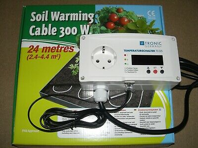 Cable Temperatura Estanque Cable Calefactor Calentador de Estanque 300 Watt Set