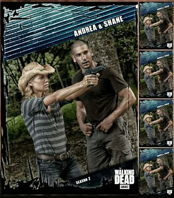 5x FALLOUT BLUE WAVE 3 SHANE AND  ANDREA Topps Walking Dead Trader Digital Card