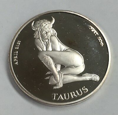 Amazing Rare 100 Mills .999 Pure Silver One 1 Oz Zodiac Naughty Nude Art Coins