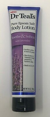Dr. Teal's Pure Epsom Salt Body Lotion Soothe& Soften With Lavender 10 Oz. New