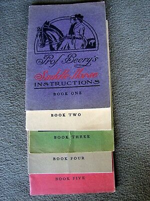 19O9-10 Prof. Beery's Saddle Horse Instructions, Books One Through Five