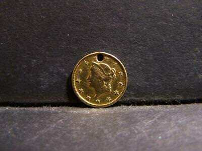 1849 TYPE 1 LIBERTY GOLD DOLLAR (HOLED / STRONG DETAILS / GOLD DOLLAR ... Lot 66