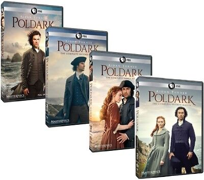 Poldark: The Complete Series Seasons 1-4 (DVD, 13-Discs) 1 2 3 4 Three Four New!