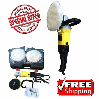 """7"""" Electric Variable 6-Speed Polisher Buffer Car Truck Boat Detail Sander Waxer"""
