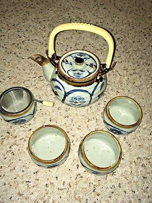 Vintage Japanese Ceramic Tea Set
