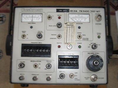 Cushman CE-31A FM Radio Test Set, Service Monitor