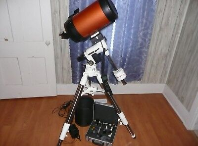 Celestron C8 Telescope on Bresser EOS2 goto equatorial mount, eyepieces, extras
