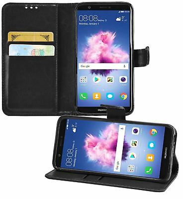 Huawei P Smart 5.65-Inch PU Leather Wallet Flip Case Cover Book Style
