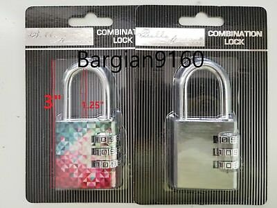Combination Padlock For School Gym Work Room Lockers 3 Digits NEW