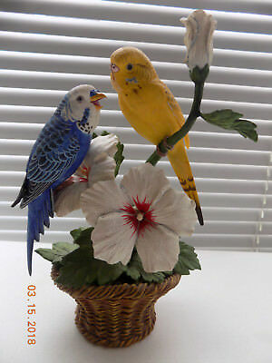 "Danbury Mint ""Sweet Whispers"" Parakeets by Bob Guge"